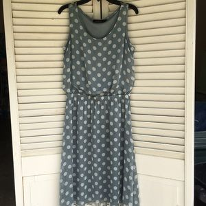 The limited dress size xs  blue white polka dot